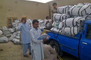ShelterBox aid arriving in Pakistan.