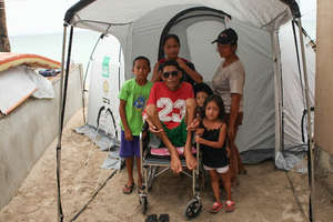 Tents distributed in the Philippines