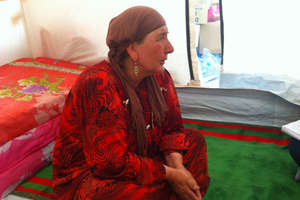 Syrian woman living in a ShelterBox tent