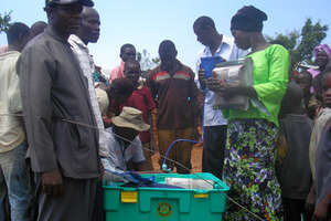 ShelterBoxes arrive in Uganda.