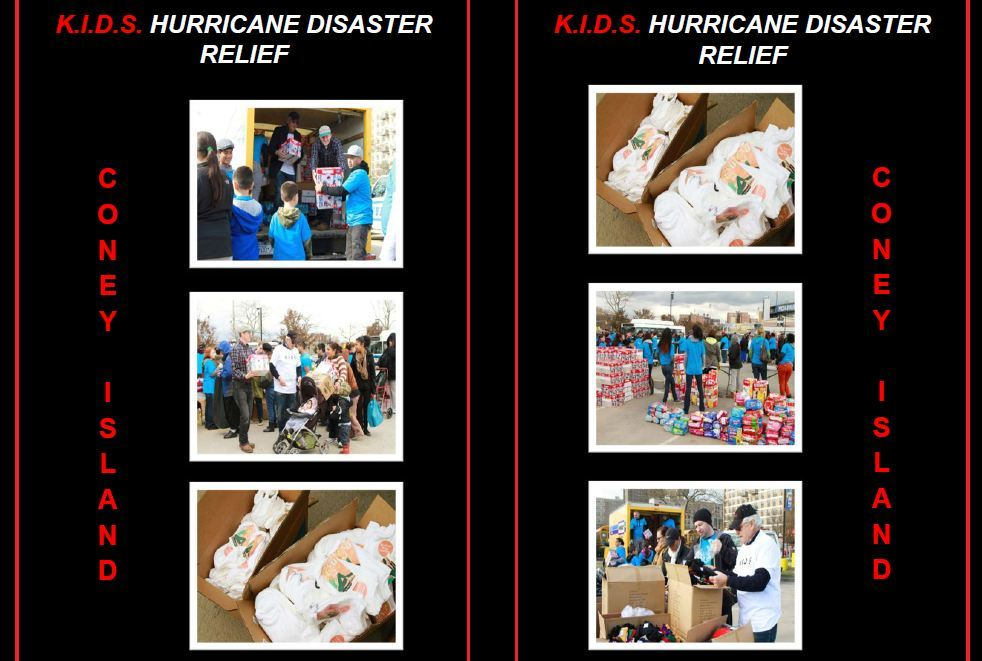 Photos of K.I.D.S. Sandy Relief- Coney Island