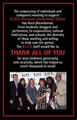 K.I.D.S. Thanks YOU for supporting our Efforts