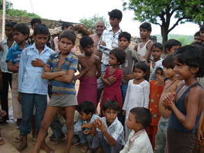 Pathroda's children and community members