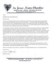 Charity Letter for Help