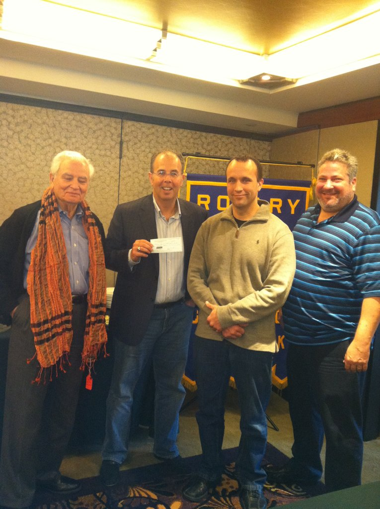 Great Neck Rotary Club Getting Donation