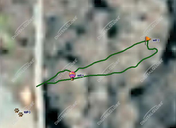 Satellite photo of where we measured