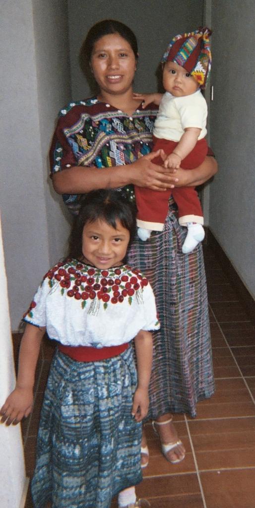 Juana Cun, Kateri Fund Graduate, with her children