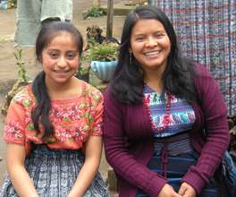 Blanca '13 graduate and Mirna '08, her teacher