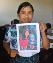 Flory with her Sponsors Picture