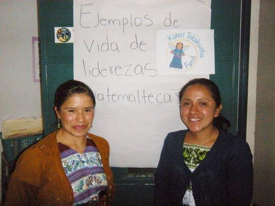 Lizabeth and Vilma  Leaders in their Community