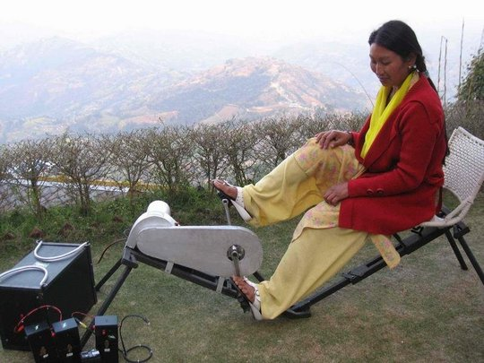 Nepali woman generates power