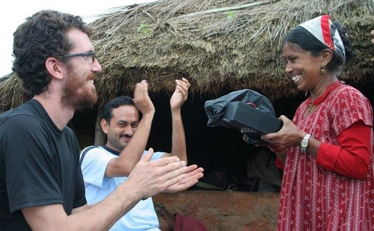 Engineer meets village woman in gift of light