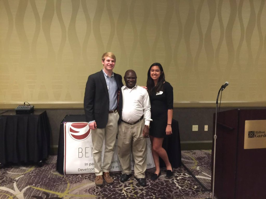Aloysious with our Presidents at Benefit Dinner