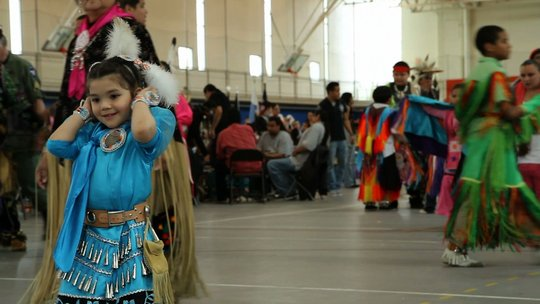 Girl at pow wow in Minnesota