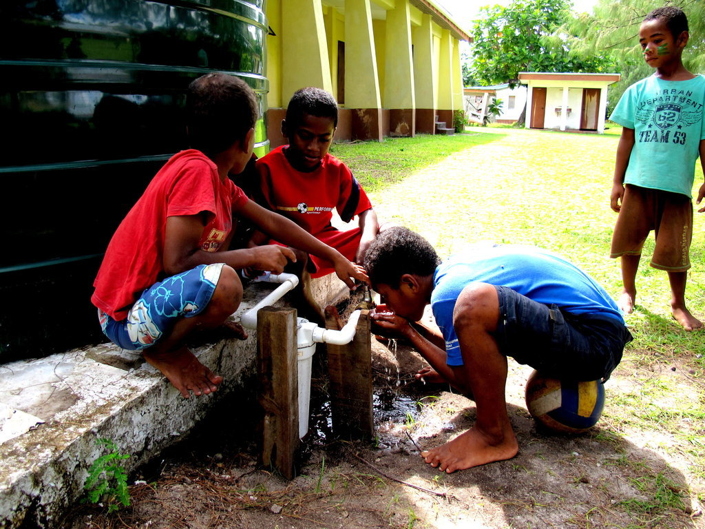 Rain Water Harvesting and Sanitation in Dawasamu