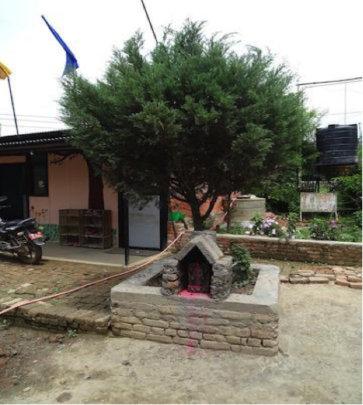 Newly rebuilt temple