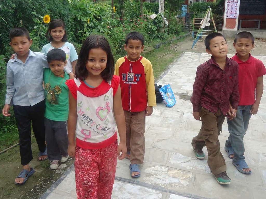 Bungamati Family House children