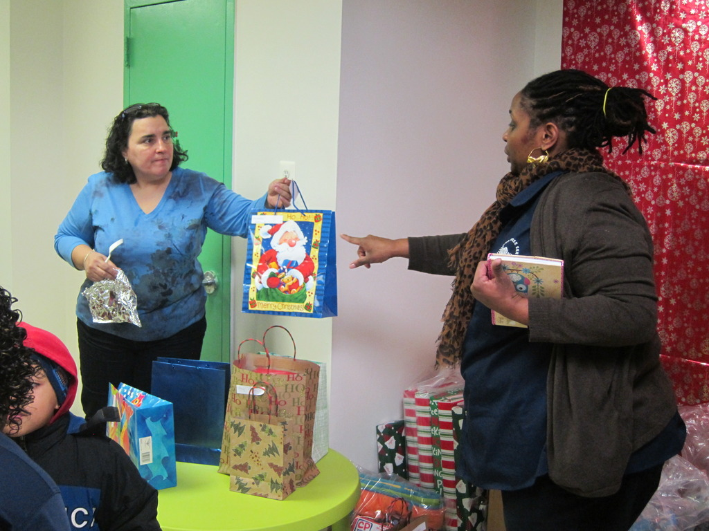 Giving Toys to Parents for Christmas Morning