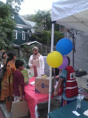 Distributing School Supplies to Sandy Survivors