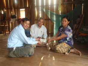 Sophat receiving $120 for building a chicken pen