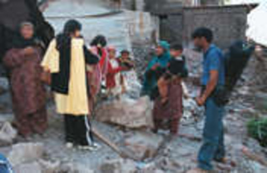 Earthquake Aid for Women and Children Survivors