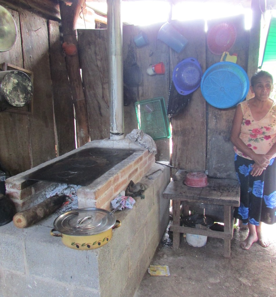 A woman with her sustainable stove