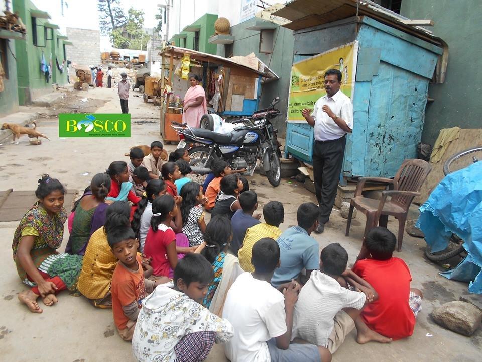 CHILD LINE AWARENESS AT NAYANDAHALLI, BANGALORE