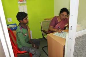 Counseling session at drop in centre