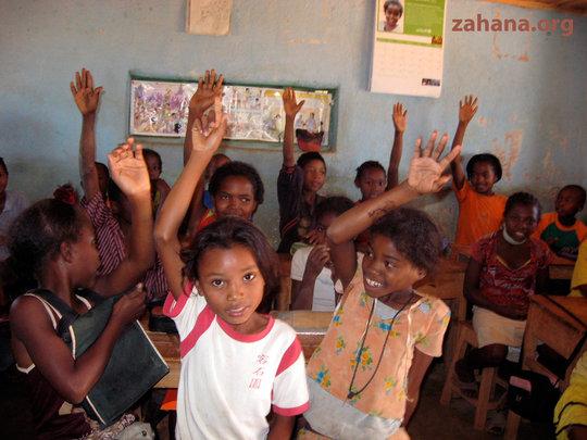 Inside the Zahana School's classroom