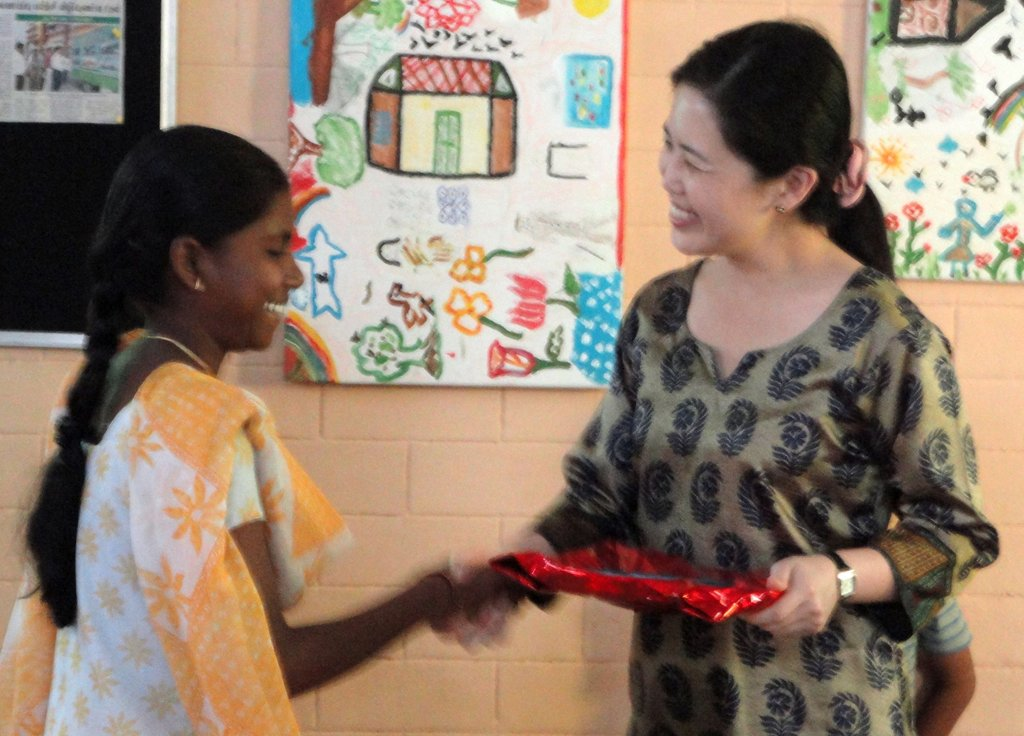 Bharathi topper in Class 10 in 2013 Board Exams
