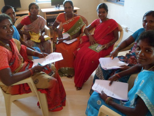 Women working together in groups