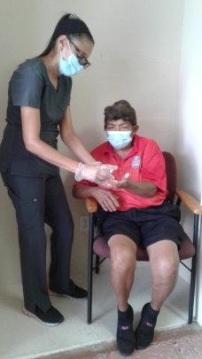 Nurse with participant