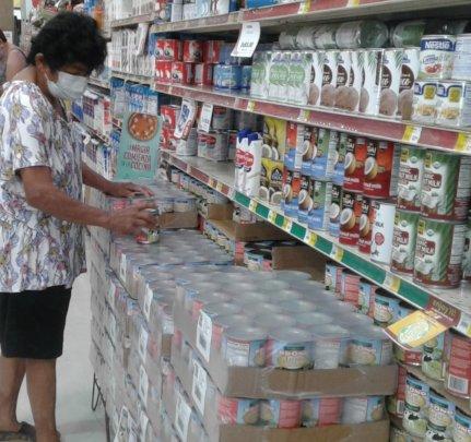 Participant at the supermarket