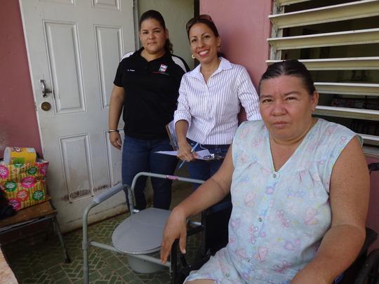 Participant who received portatil toilet