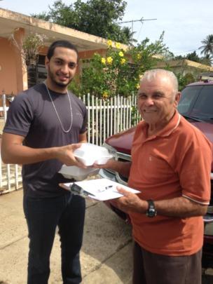 New volunteer in meal distribution