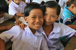 Children at a migrant school in Mae Sot, Thailand