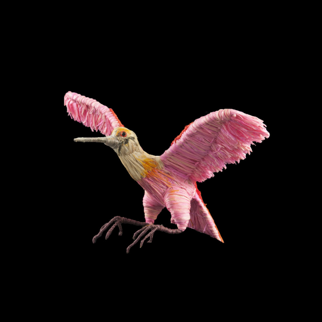 Flying roseate spoonbill ornament