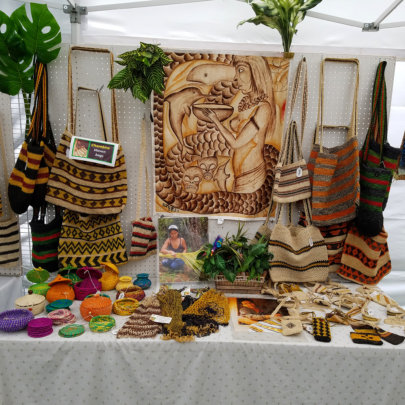 Native Peruvian crafts for sale at CACE booth