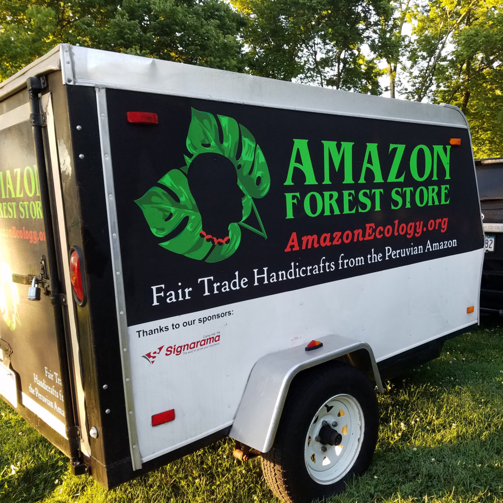 Amazon Forest Store trailer at Romp music festival