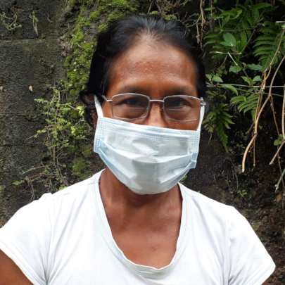 Bora artisan Angela in Iquitos seeking treatment
