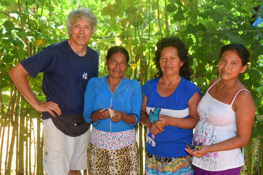Campbell & Dora group artisans from Jenaro Herrera