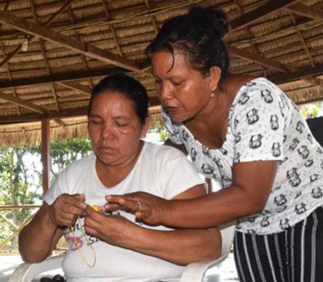Berta and Rosita at Artisan Facilitator workshop