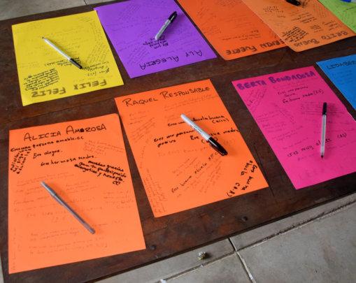 "Affirmation poster for Berta ""Bondadosa"" at AVP"