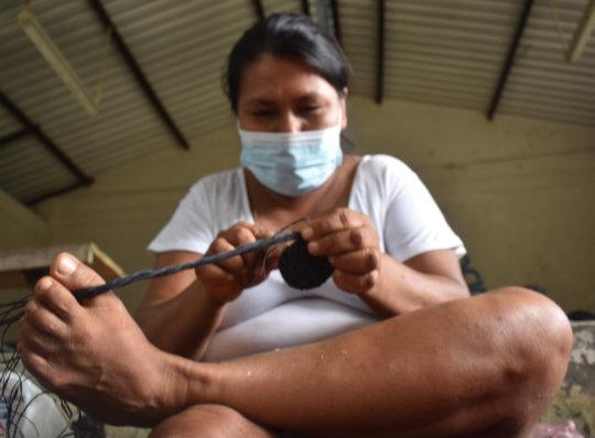 Casilda - Bora artisan weaving chambira trivet