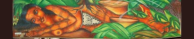 Bora legendary woman painting by Elmer