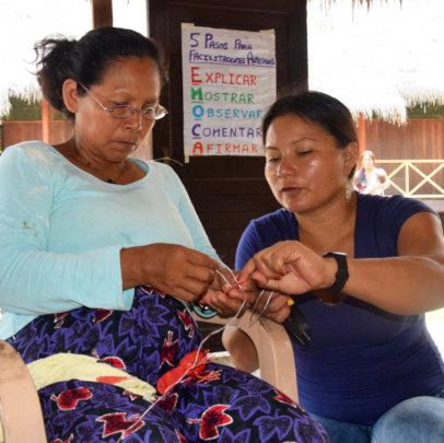 Estelita and Deisa at Artisan Facilitator workshop