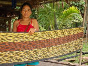 Bora Artisan weaving hammock. Plowden/CACE