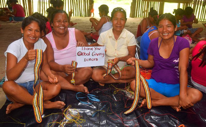 Shushupe group thanking GlobalGiving.Plowden photo