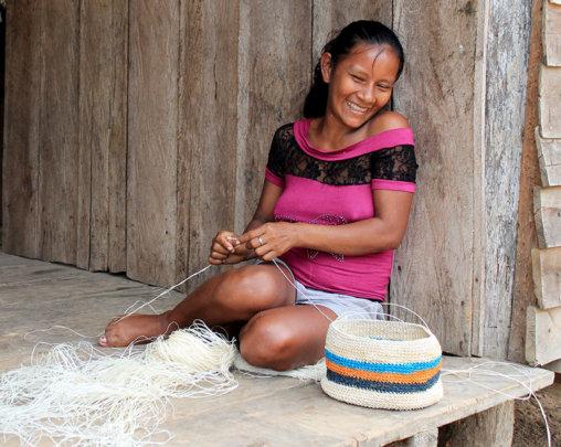 Liz - Bora artisan and FECONA President