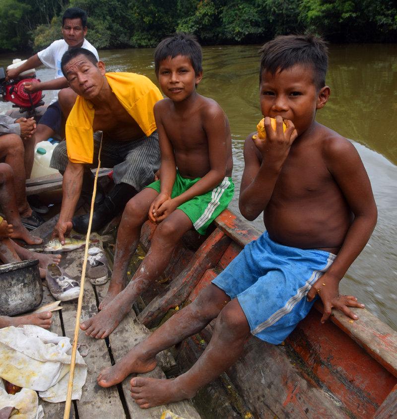 Maijuna boy in boat